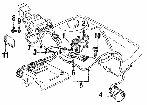 fuel system/cruise control for 1994 buick regal #1