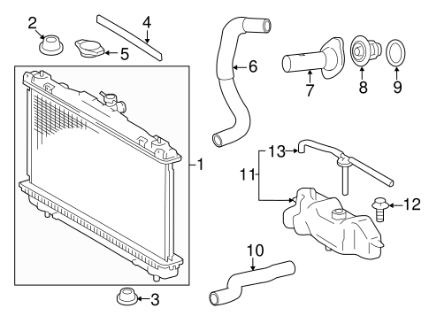 Radiator Components For 2012 Toyota Camry