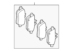 Brake Pads - Mercedes-Benz (000-420-77-00)