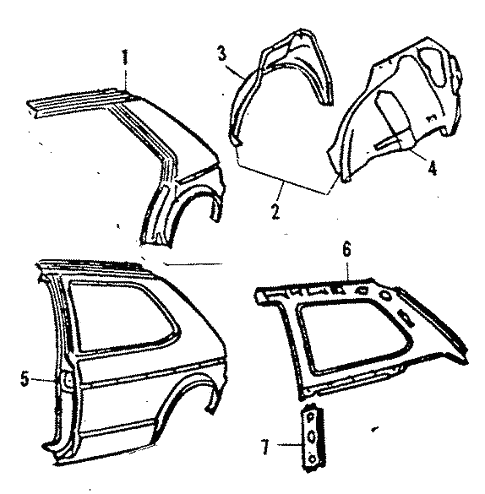 Quarter Panel For 1984 Volkswagen Rabbit