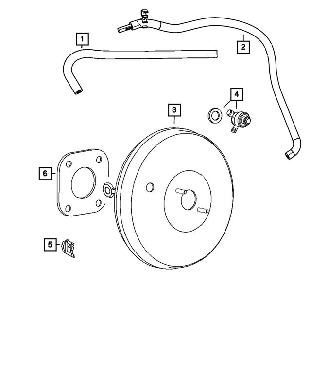 Genuine Chrysler 5105153AI Brake Booster Vacuum Hose