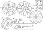 "Alloy Wheel - 20"" 5 Split-Spoke, 'Style 511' - Land-Rover (LR073513)"