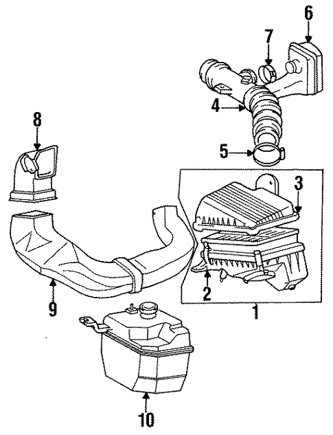[SCHEMATICS_4FR]  Genuine OEM Air Intake Parts for 1997 Toyota Corolla CE - Olathe Toyota  Parts Center | 1997 Toyota Corolla Engine Diagram |  | Olathe Toyota Parts Center