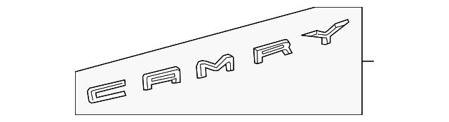Genuine Toyota Deck Lid Emblem 75442-06290