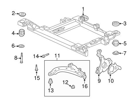 Suspension Components For 2002 Chevrolet Impala Gm Parts Club