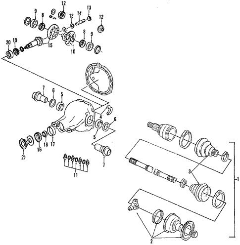 Propeller Shaft For 1997 Ford Thunderbird
