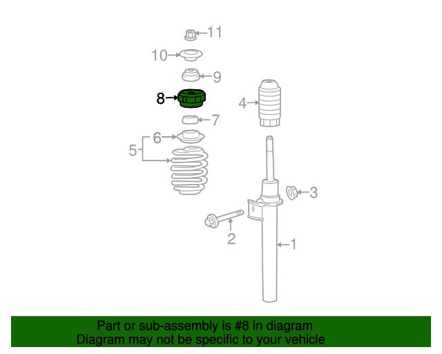 strut mount Front Suspension Diagram