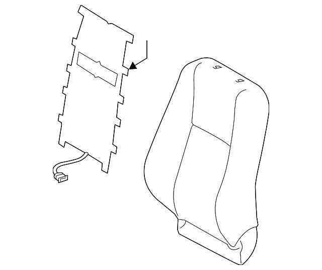 2014 2015 Toyota Rav4 Seat Back Cover 71073 0r192 B2