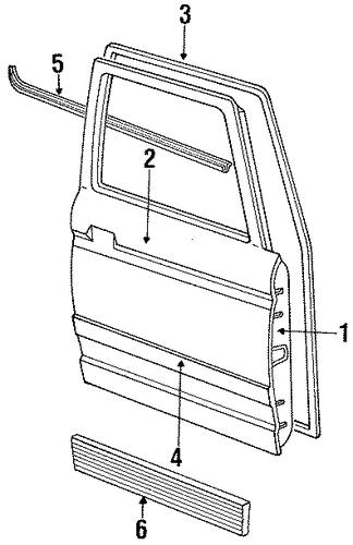 door  u0026 components for 1992 ford ranger