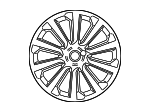 "Alloy Wheel - 20"" 7 Spoke 'Style 7014' - Land-Rover (LR091537)"