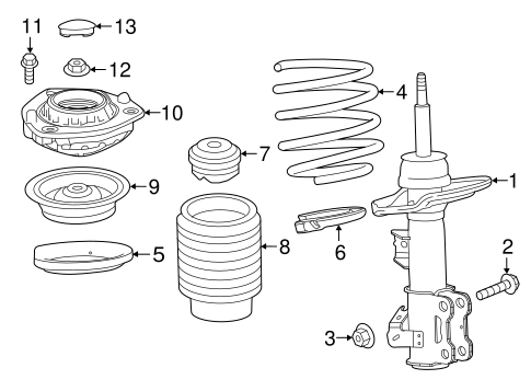 front suspension/struts & components for 2018 chevrolet camaro #1