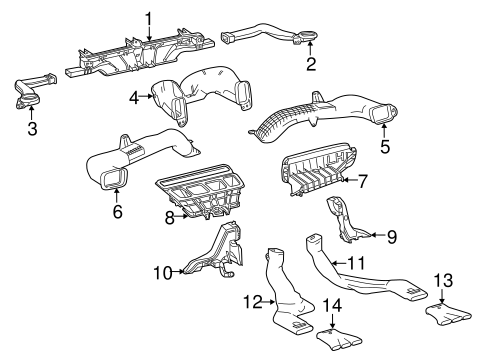 Body/Ducts for 2016 Toyota Highlander #1