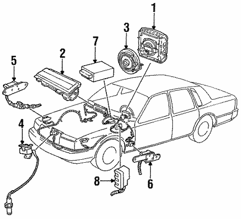 Air Bag Components For 1996 Lincoln Town Car
