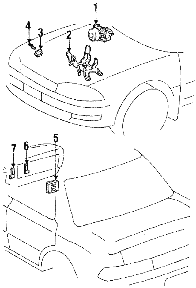 1992 1996 Toyota Camry Control Module 89541 33010