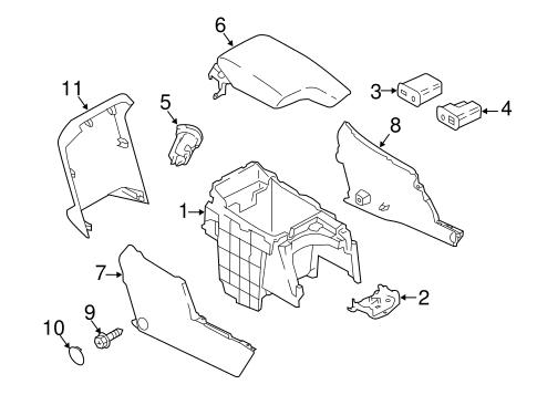 Center Console For 2018 Subaru Crosstrek
