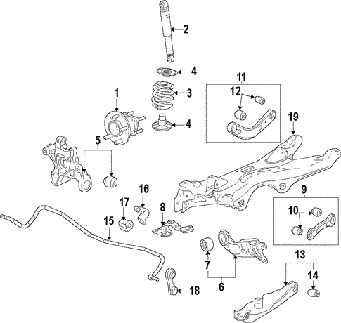 oem 2012 chevrolet malibu rear suspension parts