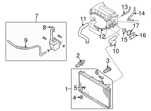 radiator  u0026 components for 2001 kia spectra