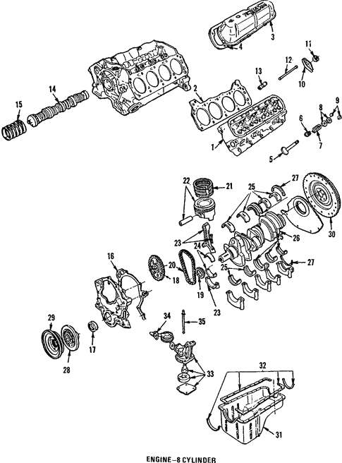 oem 1992 ford mustang engine parts