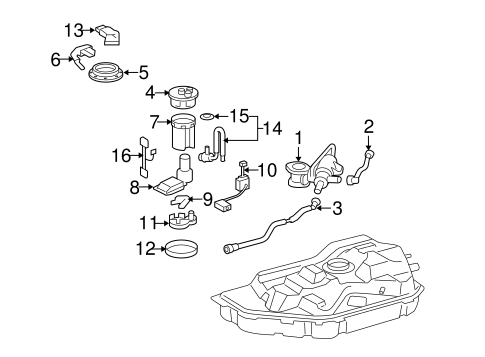 FUEL SYSTEM/FUEL SYSTEM COMPONENTS for 2006 Toyota Highlander #1