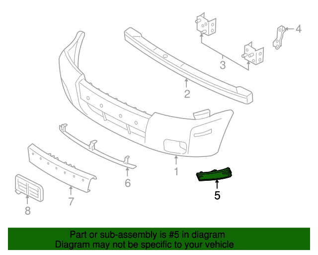 Genuine Ford 5E6Z-15A201-AA Lamp Assembly