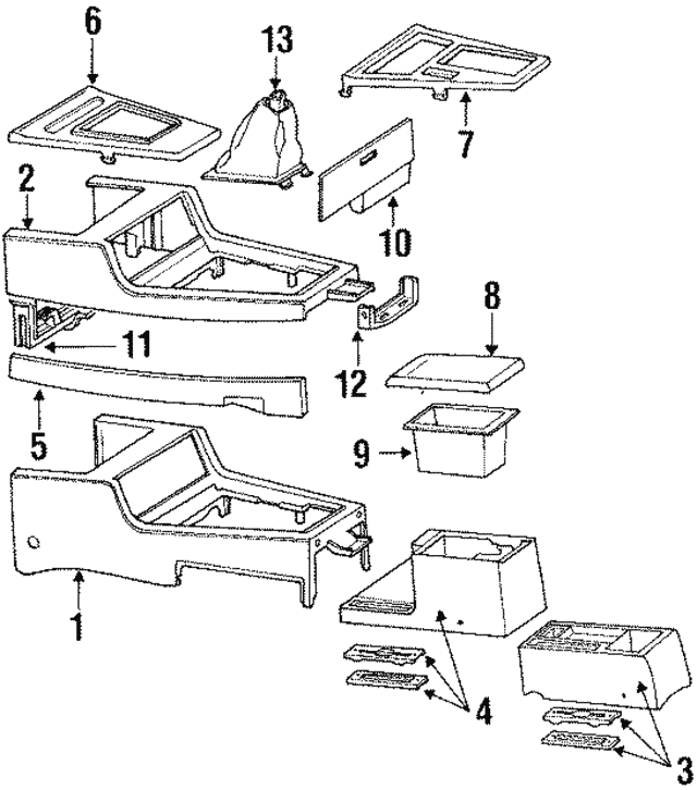 Genuine Hyundai 84670-33100-AU Console Rear