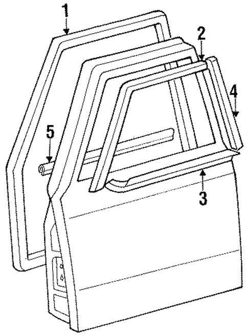 Exterior Trim - Front Door for 1984 Toyota Land Cruiser #0