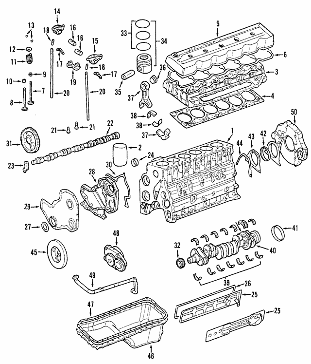 Camshaft Bearings - Mopar (5003617AA)