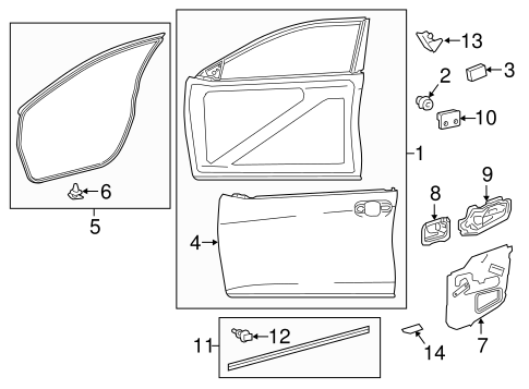 BODY/DOOR & COMPONENTS for 2015 Toyota Camry #2
