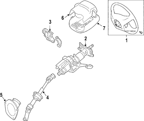 STEERING/STEERING COLUMN for 2007 Toyota Avalon #1