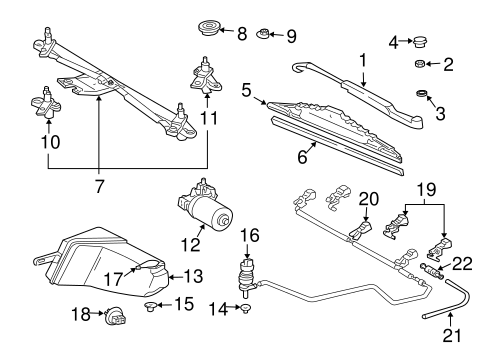 Wiper & Washer Components for 2003 Mercedes-Benz ML 320 #0