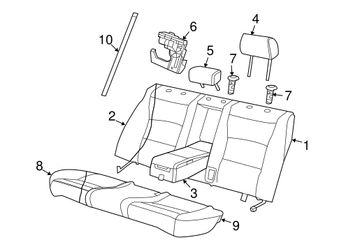 Rear Seat Components For 2007 Jaguar Xjr