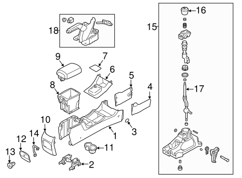 Parking Brake for 2011 Kia Sorento #1