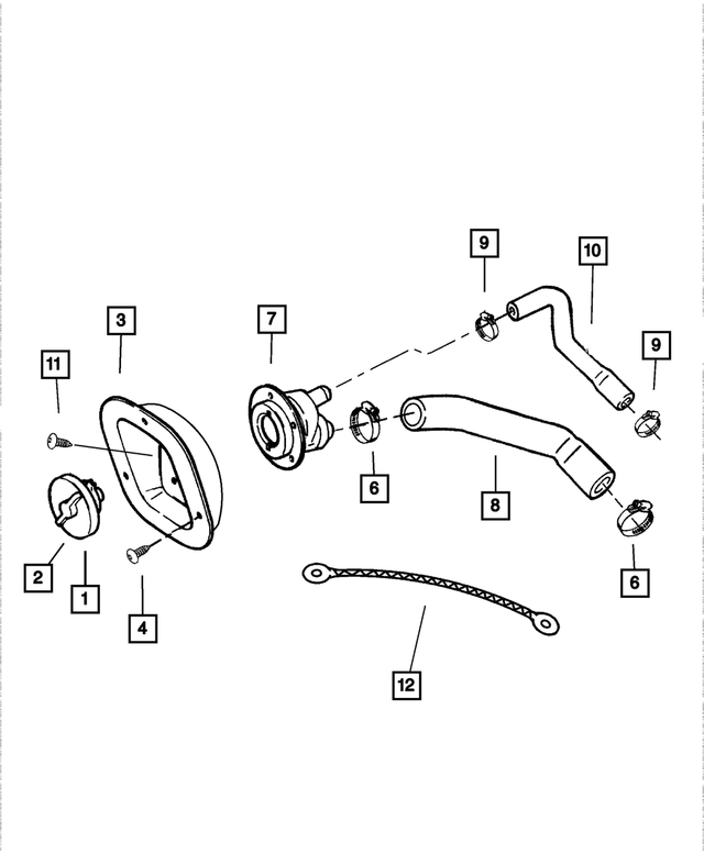 Genuine Chrysler 52100552AC Fuel Filler Cap