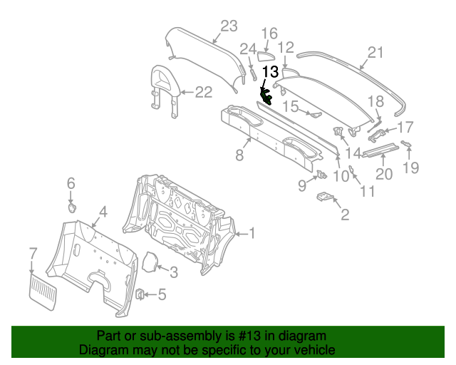Rear cover support mercedes benz 170 690 02 09 for Cheap parts for mercedes benz
