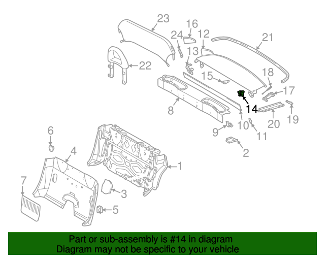 Rear cover link mercedes benz 170 690 07 95 factory oem for Mercedes benz parts oem