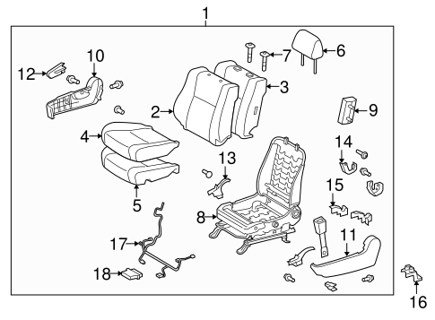 TOYOTA Genuine 71875-AD020-B1 Reclining Adjuster Cover