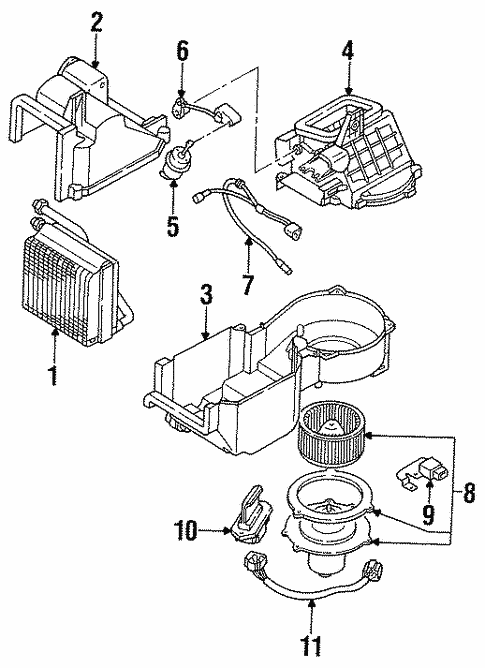 Evaporator Components for 1993 Ford Probe #0