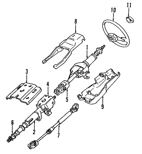 steering column for 1992 mitsubishi mighty max 1 ton