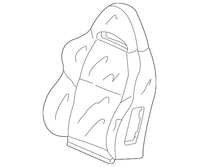 2005-2006 Acura RSX HATCHBACK Cover, L Front Seat Back