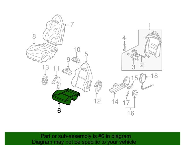 Honda Genuine 82131-S04-A02ZB Seat Cushion Trim Cover Rear