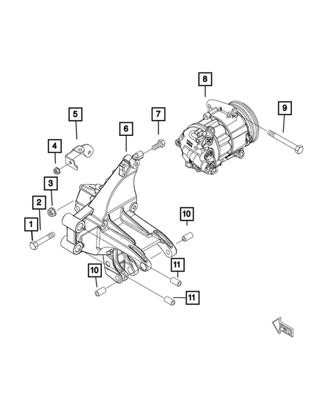 Air Conditioner Compressor and Mounting for 2015 Jeep Renegade #0