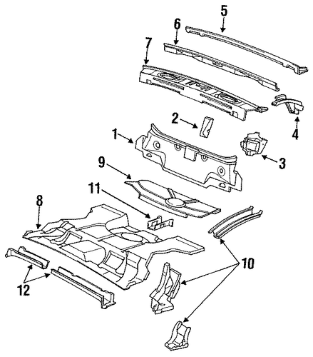 Rear Body For 1988 Cadillac Seville