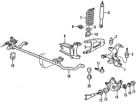 Front Suspension/Suspension Components for 1997 Ford F-350 #1