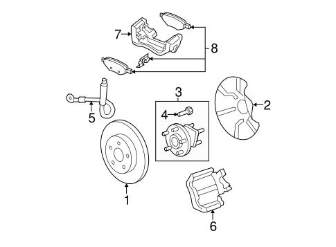 oem 2009 chevrolet malibu brake components parts. Black Bedroom Furniture Sets. Home Design Ideas