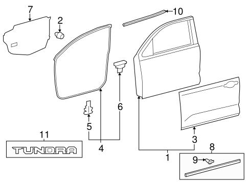 Toyota 67856-0C020 Door Panel Protector