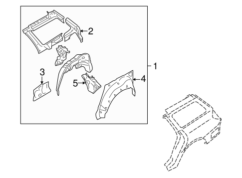 Inner Structure for 2005 Subaru Legacy #0
