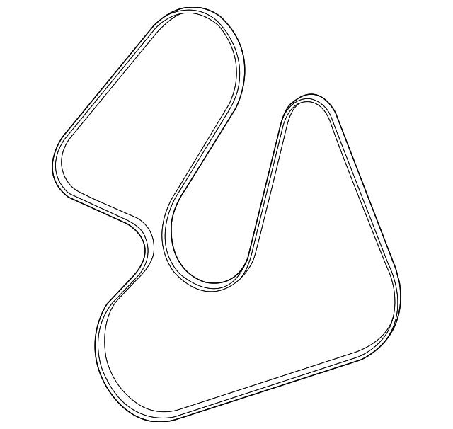serpentine belt - mopar (68099635aa)