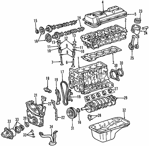 Engine For 1998 Toyota Tacoma Toyota Parts Center