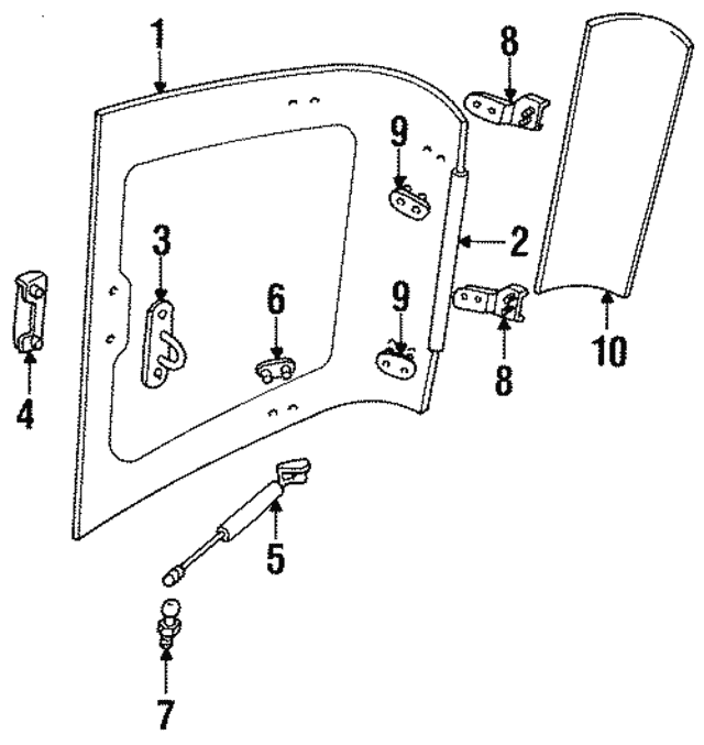 Air Deflector - Isuzu (8943225083)