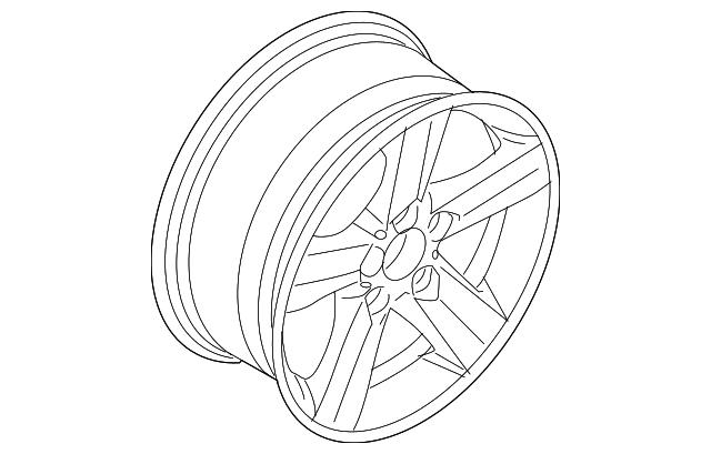 2006 bmw wheel  alloy 36